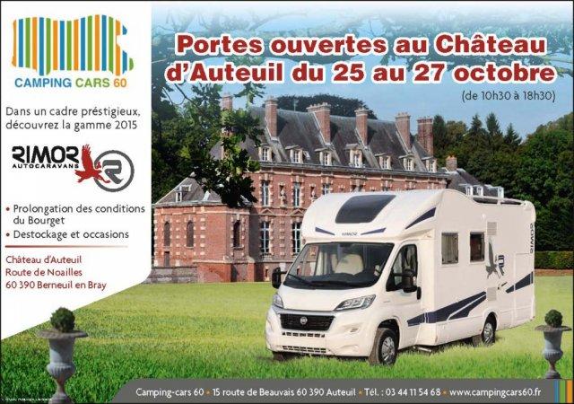 Portes ouvertes du 25 au 27 octobre au ch teau d auteuil camping cars 60 - Porte ouverte camping car ...